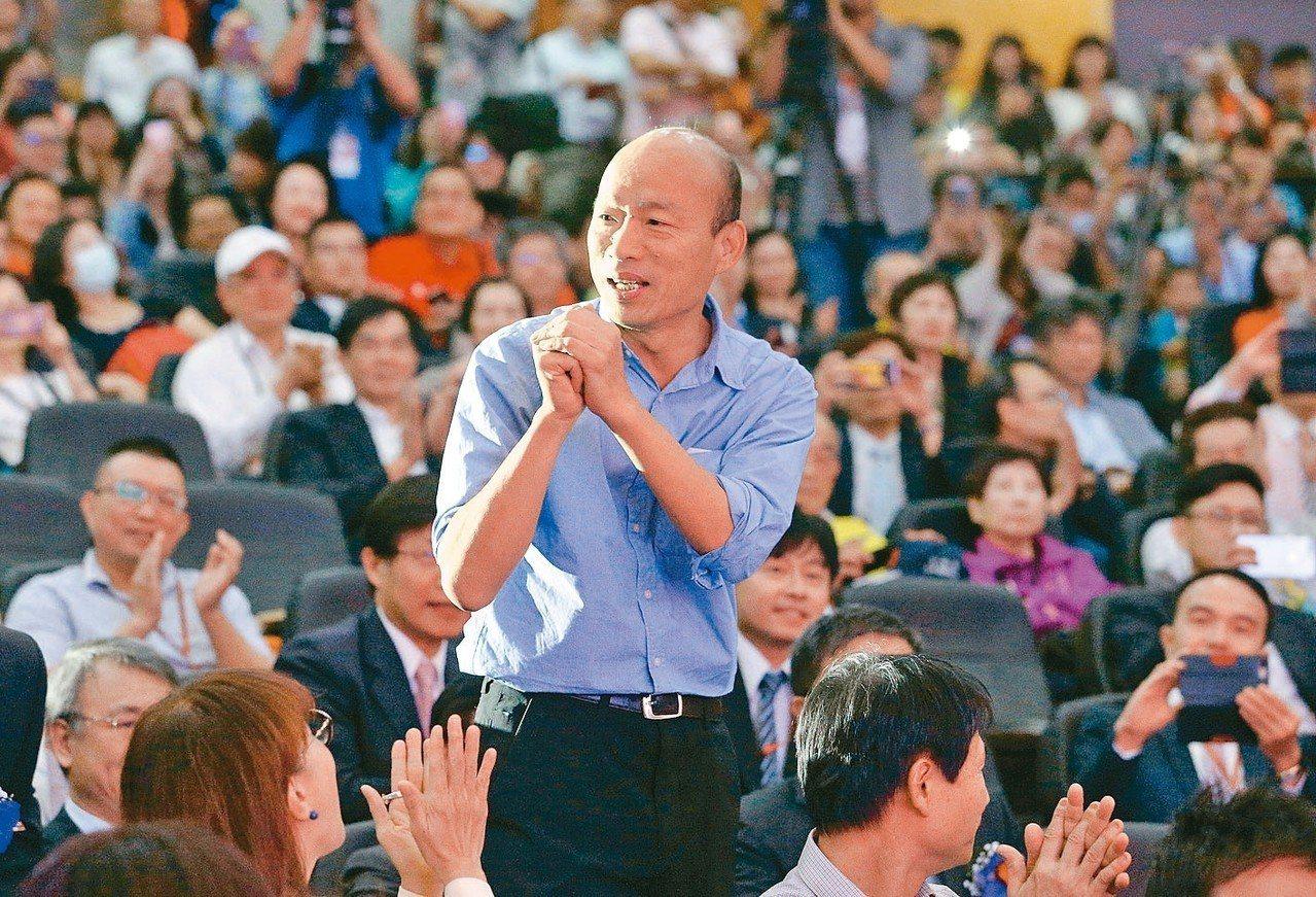 高雄市長當選人韓國瑜。 聯合報系記者劉學聖/攝影