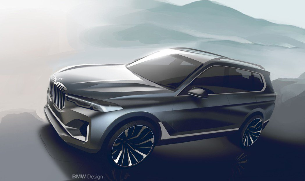 圖為BMW X7設計圖。 摘自BMW