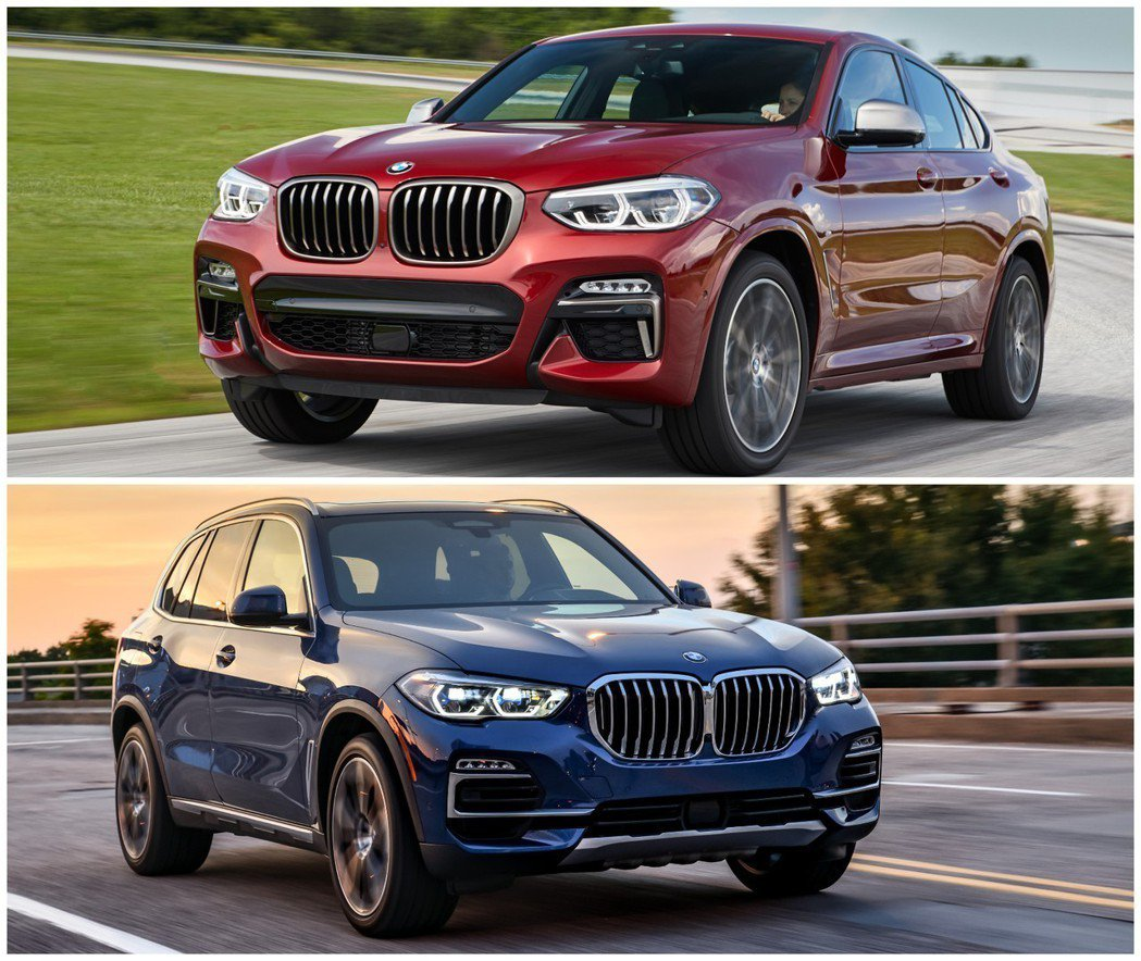 BMW X4與X5都在2018年迎接大改款車型。 摘自BMW