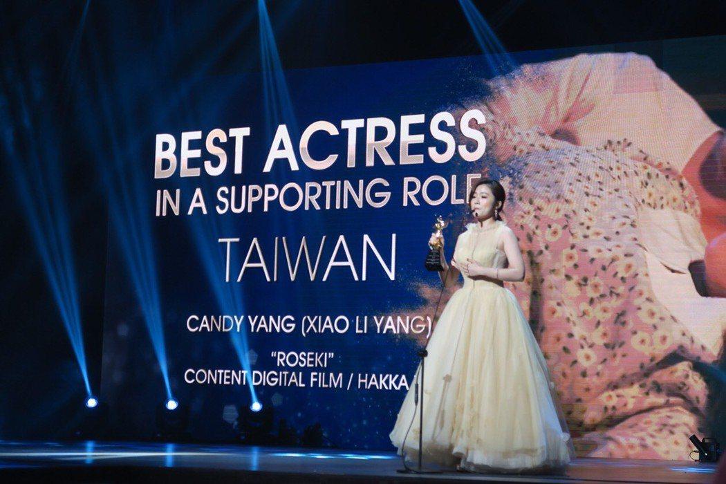 楊小黎以「台北歌手」拿下新加坡亞洲電視學院最佳女配角獎。圖/楊小黎工作室提供