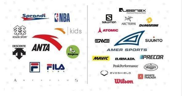 安踏和Amer Sports旗下多品牌。取自百家號