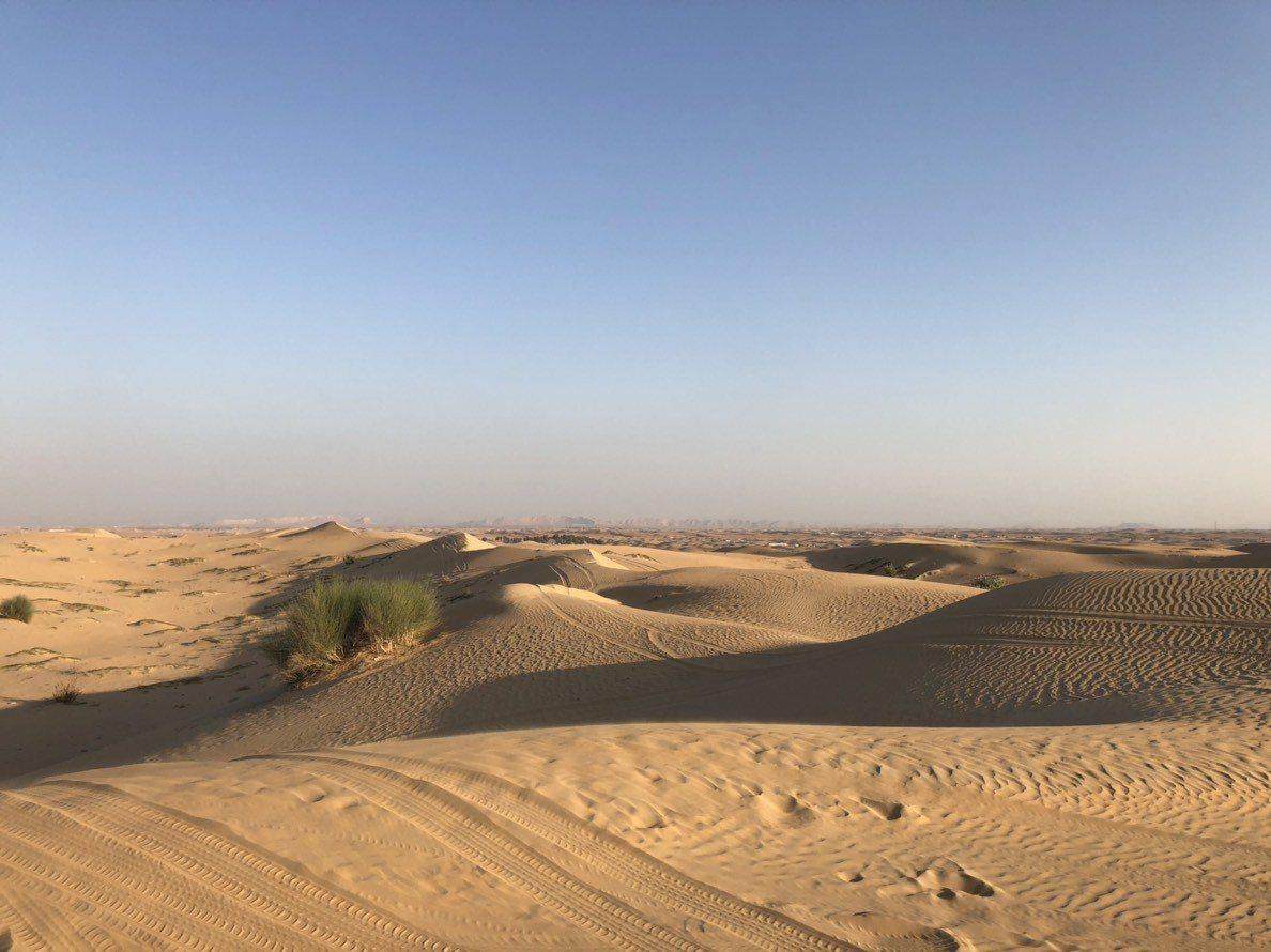 杜拜地處沙漠之中。記者許晉榮/攝影