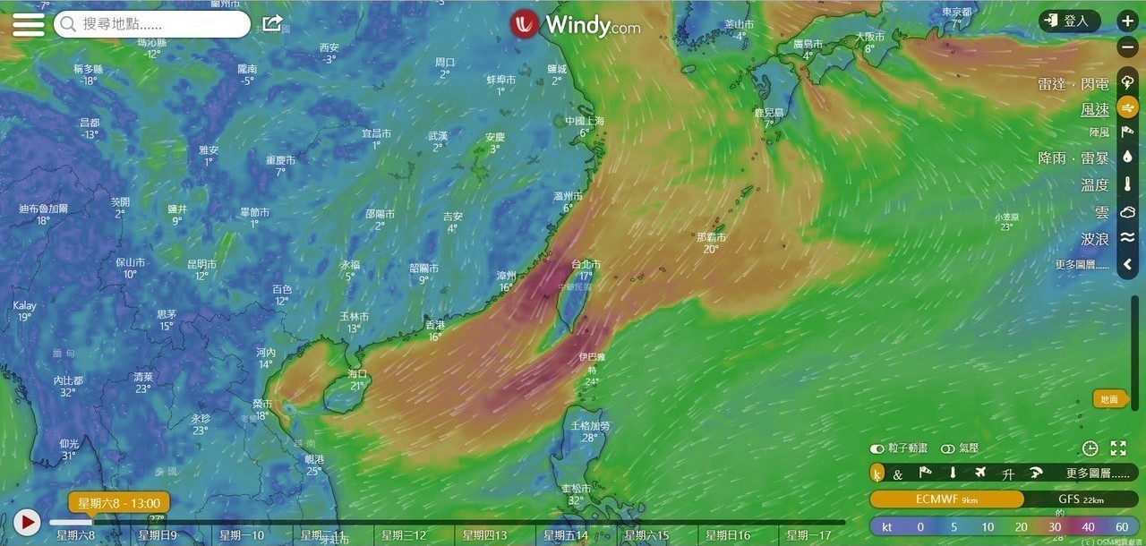 從氣象網站可發現,台灣最近的風大,台灣健康空氣行動聯盟理事長葉光芃因而研判,因空...