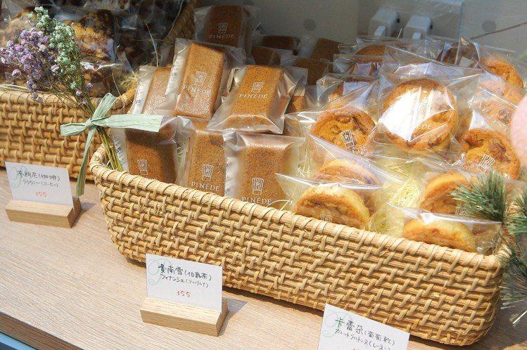 除了蛋糕商品,店內也有瑪德蓮等法式小點。圖/記者陳睿中攝影