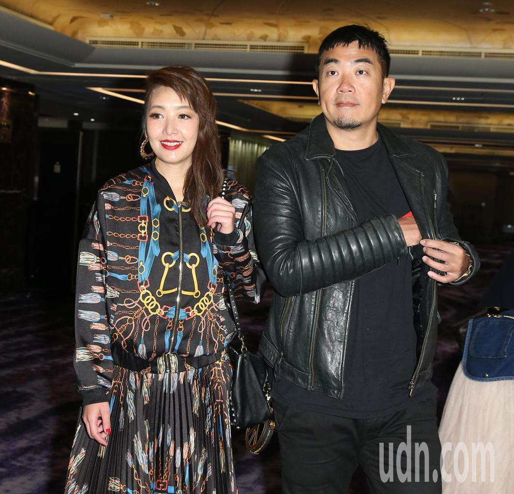 路嘉怡(左)出席段鈞豪婚禮。記者林澔一/攝影