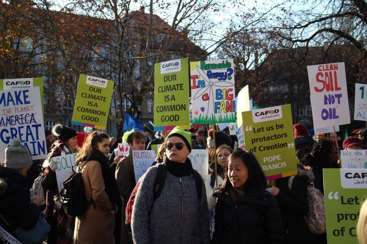 聯合國氣候變化綱要公約第24次締約方會議(COP24)在波蘭卡托維茲舉辦,上千名...