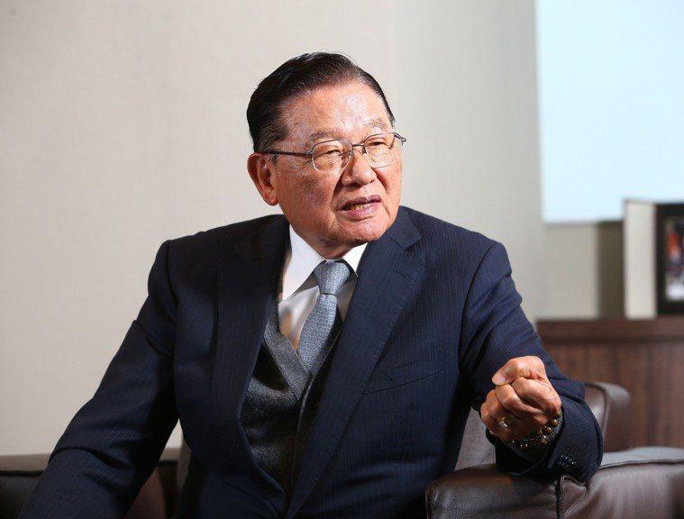 前海基會董事長江丙坤。 圖/聯合報系資料照片