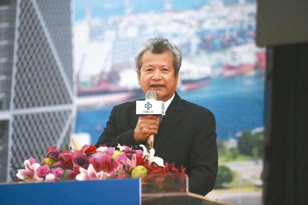 中鋼董事長翁朝棟昨天表示,未來十年將投入400億元環保相關建設。 記者林政鋒/攝...