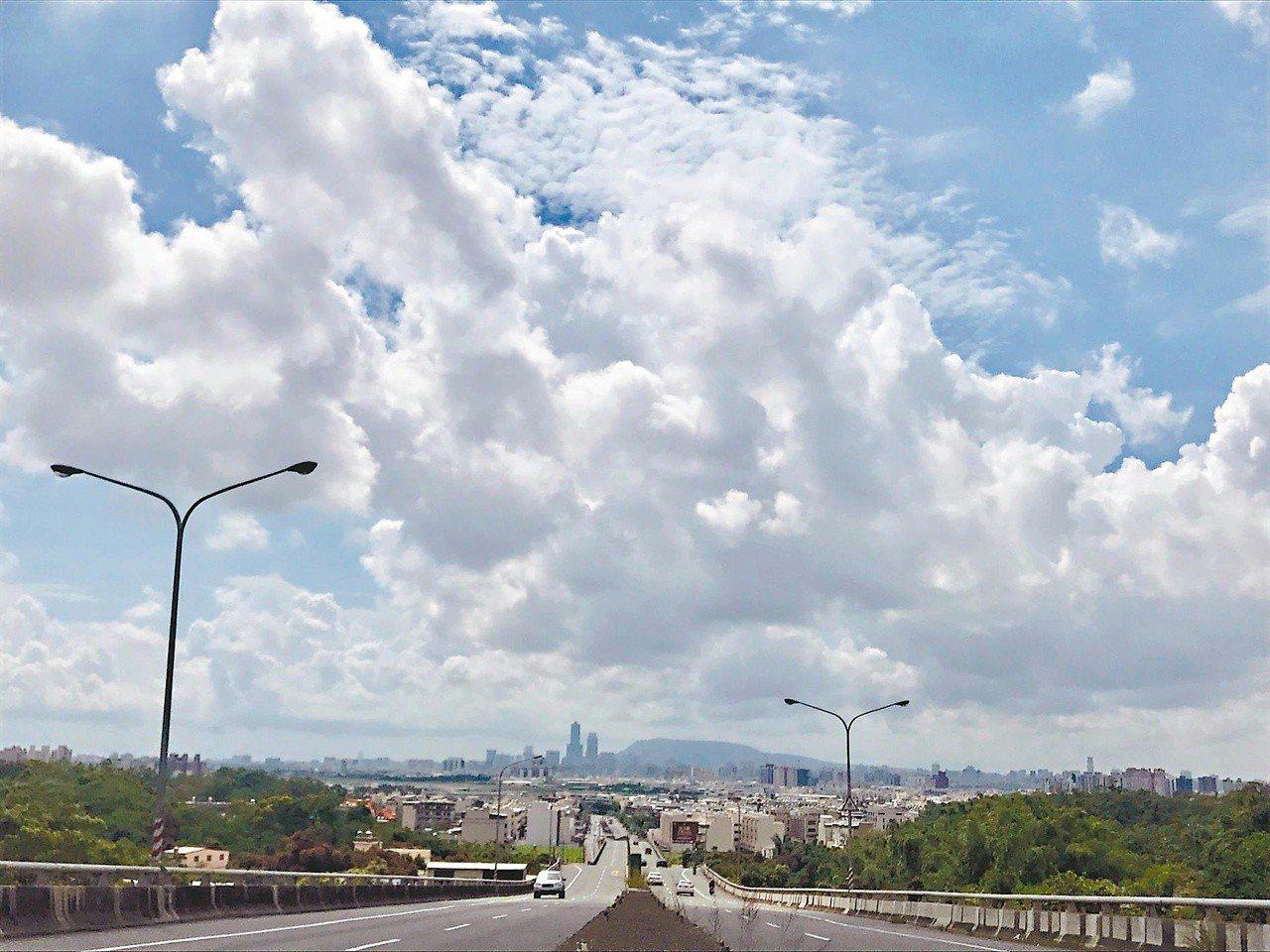 今(9)日下午高雄市部份地區驚傳大停電,圖為從大寮騎往高雄市區的風景。 聯合報系...