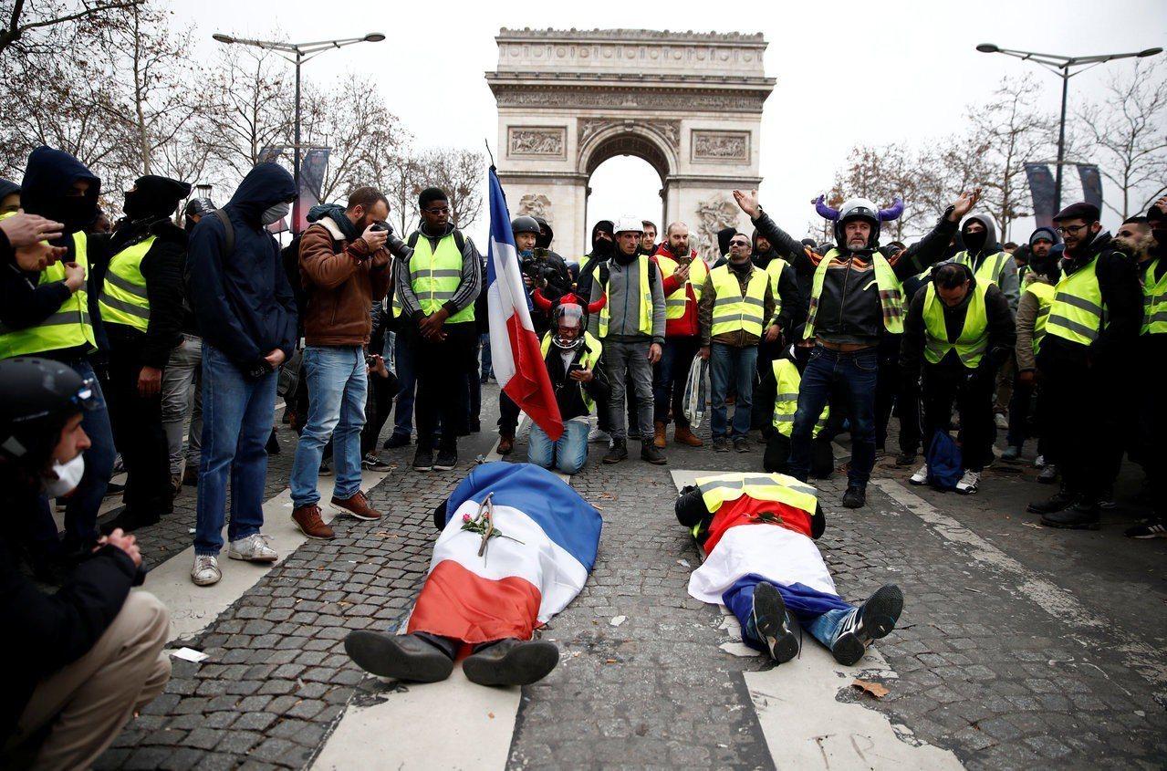 法國「黃背心」運動第4波抗議8日在全國進行。 路透社