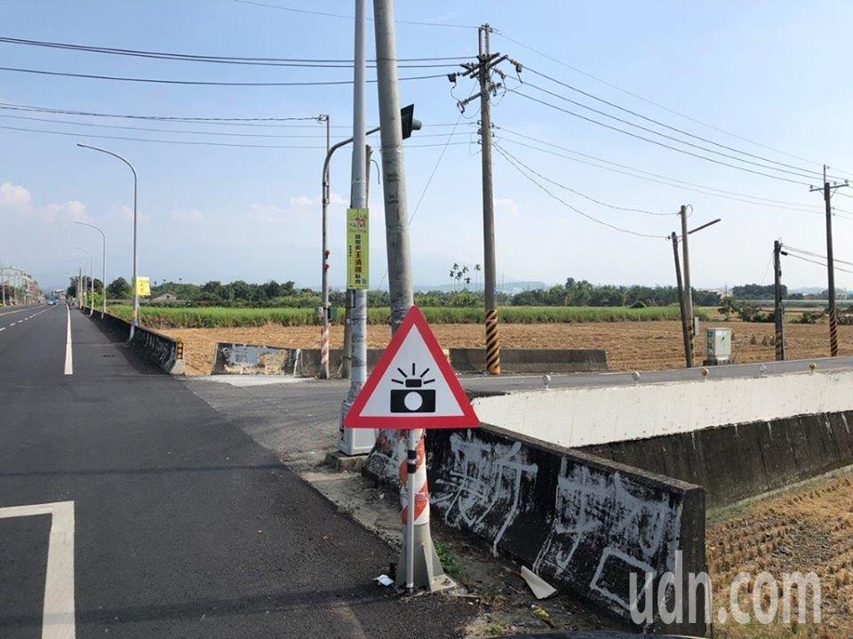 嘉義縣大林鎮162線10公里處實施移動式測速照相。記者謝恩得/翻攝