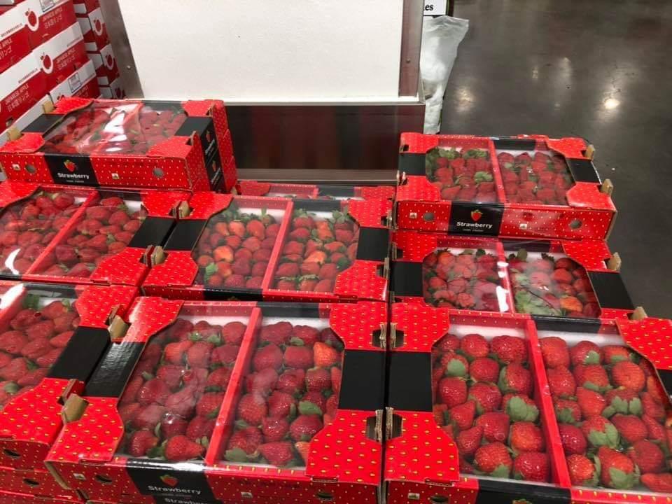 好市多開賣今年大湖草莓售價較前兩年便宜。圖/擷自臉書社團「Costco好市多 商...