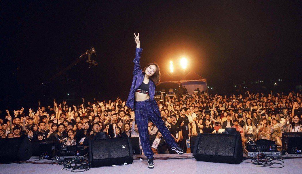 容祖兒也趕北高兩場校園演唱會。圖/英皇娛樂提供