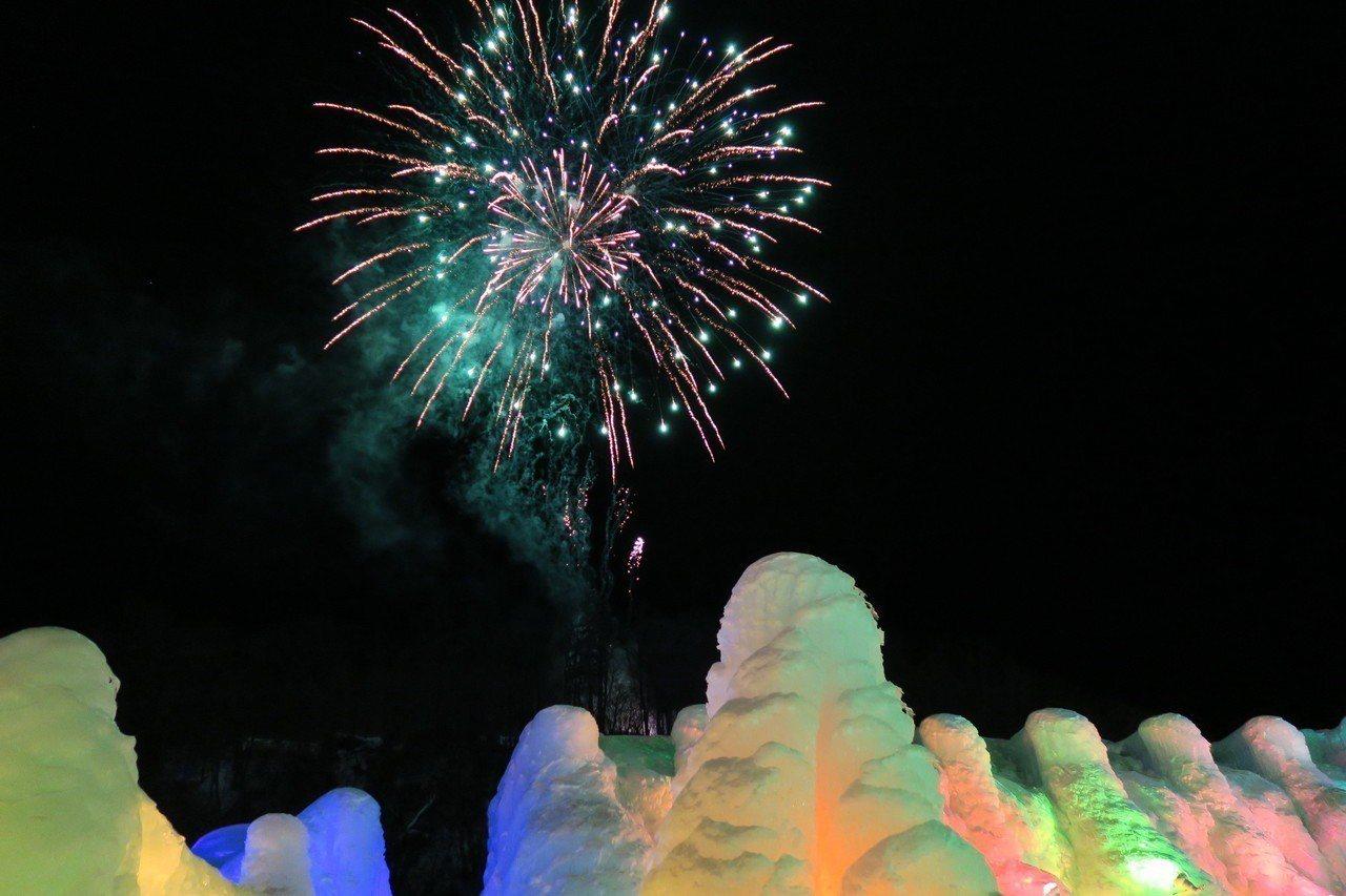 千歲支笏湖冰濤節。圖/樂天旅遊提供