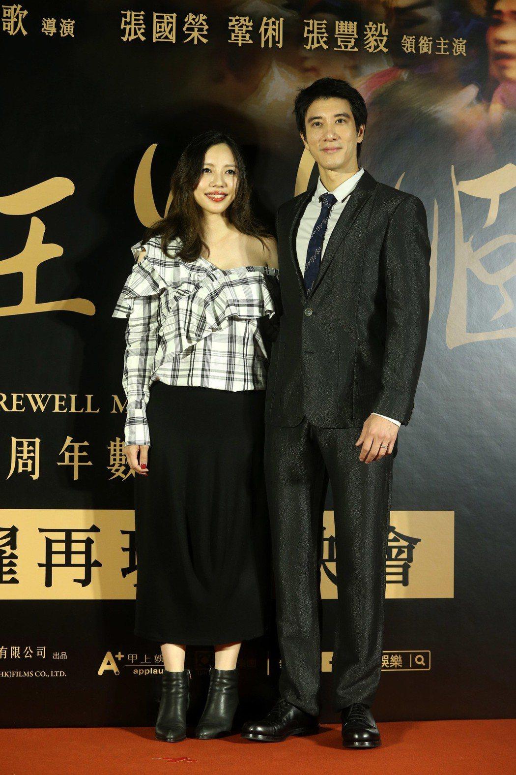 《霸王別姬》舉行首映會,王力宏拉著老婆一起出席。記者邱德祥/攝影