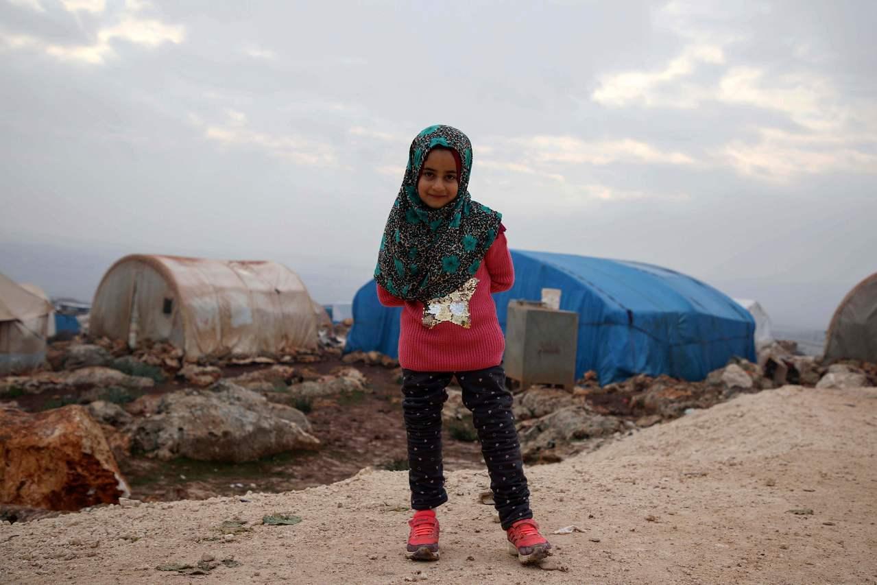敘利亞8歲女童默希(Maya Merhi)。 法新社