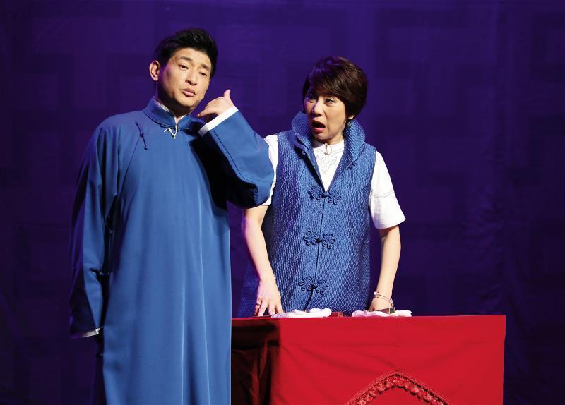 《相聲啟示錄》公演中,劉增鍇和郎祖筠演出〈卡撐人〉,是笑中帶淚的經典段子。