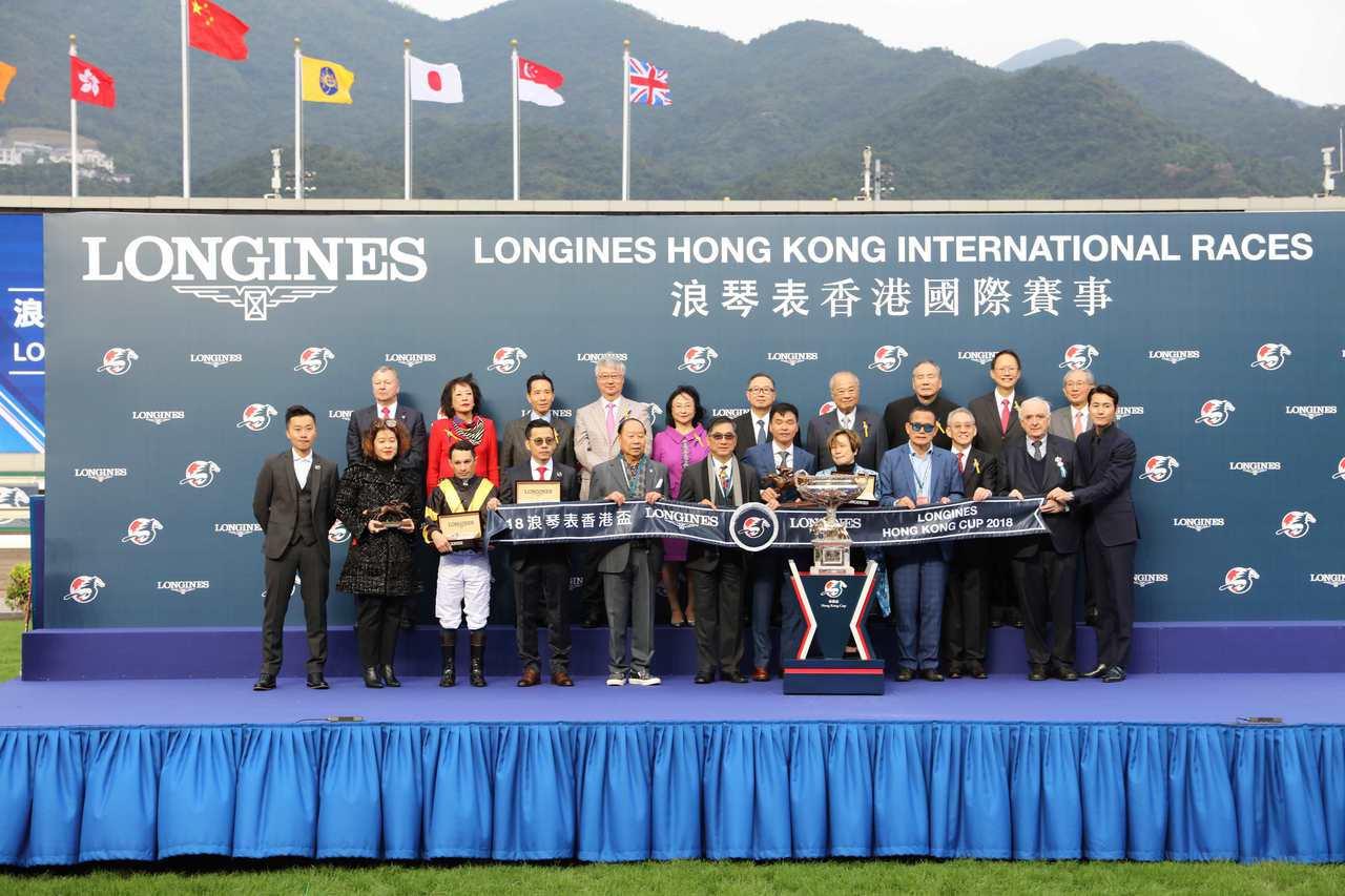「浪琴表香港盃」頒獎儀式。圖/Longines提供