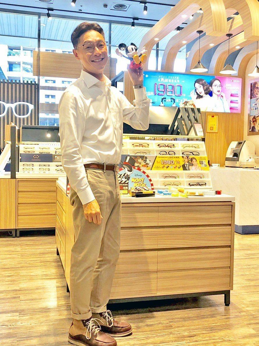 謝祖武出席代言眼鏡活動。圖/寶島眼鏡提供