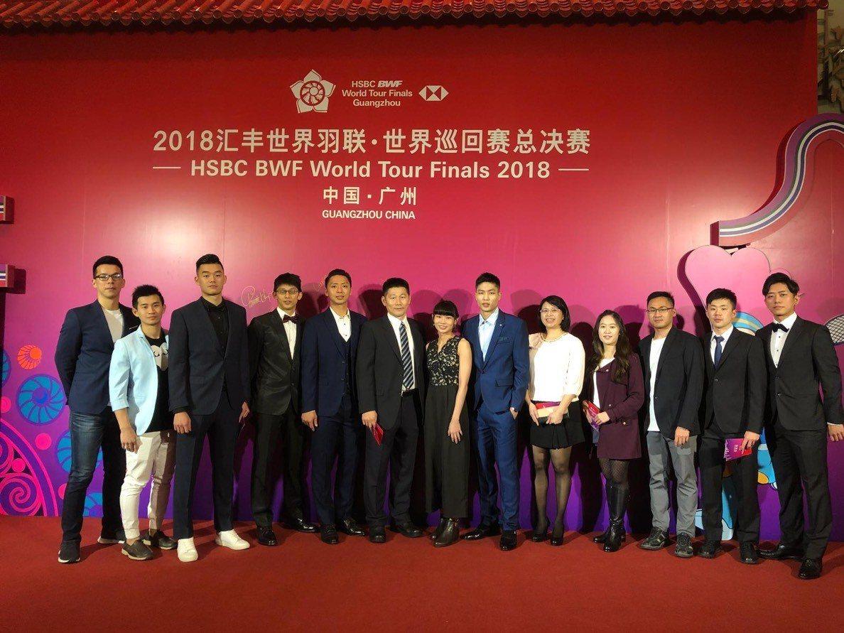 中華羽球隊盛裝出席BWF年終頒獎典禮。圖/讀者提供