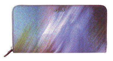 用光影交織出的迷幻風格皮夾,8,280元。圖/agnès b.提供