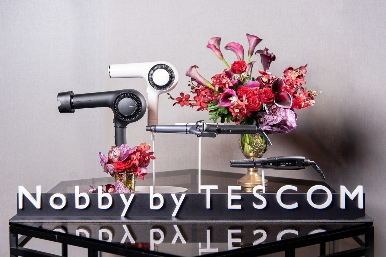 Nobby by TESCOM首批在台上市產品包括吹風機、平板夾、捲髮棒。圖/群...