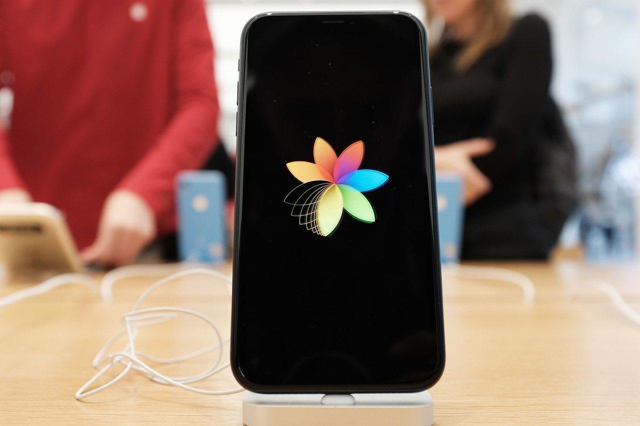 紐約一間Apple store展示的蘋果手機。法新社