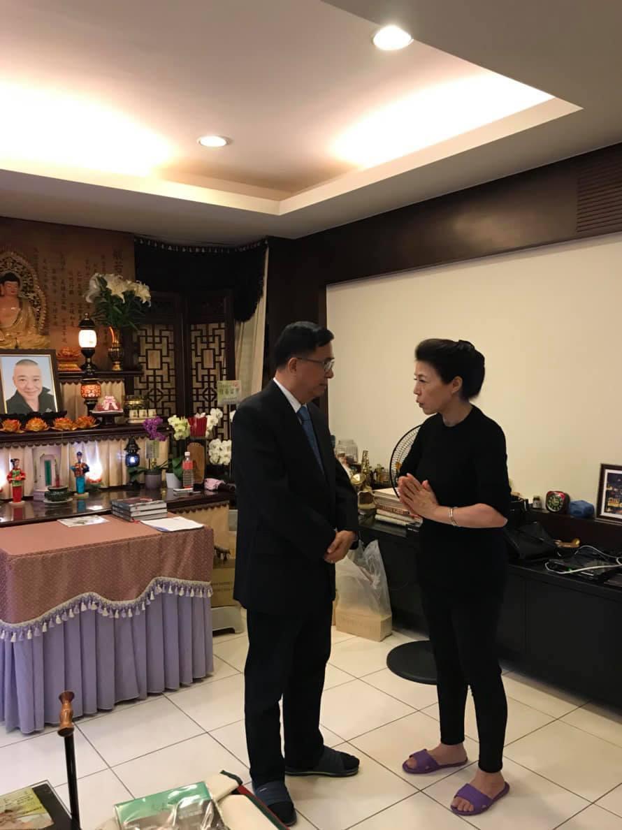 陳水扁與安迪太太。 圖/擷自陳水扁新勇哥物語臉書