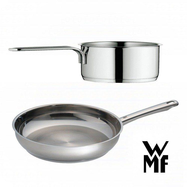 WMF 平煎鍋24cm+單手鍋14cm 雙12搶購價1,499元。圖由廠商提供。