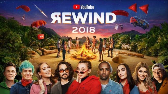YouTube 2018年回顧影片才上線幾天,便成為該網站上倒讚第二高的影片。取...