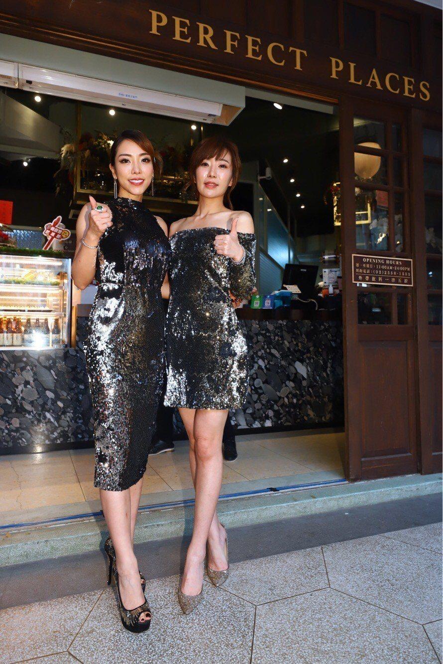 羅巧倫(右)和好友黃霈麒開餐酒館。圖/民視提供