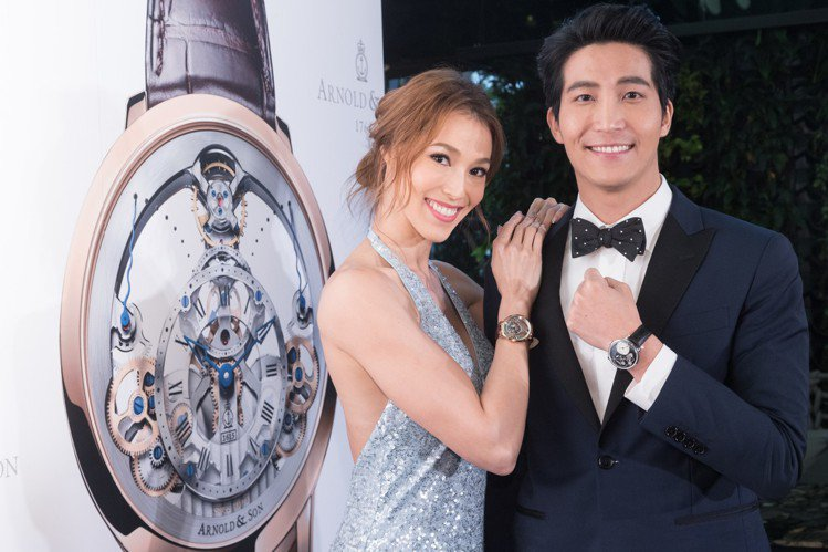 Akemi與吳翔震演繹Arnold & Son頂級腕表。圖/記者陳立凱攝影