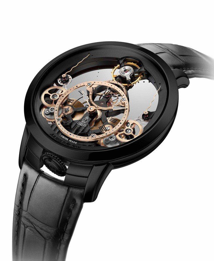 Arnold & Son 時間金字塔腕表是對稱美學及機械特色的工藝傑作,103萬...