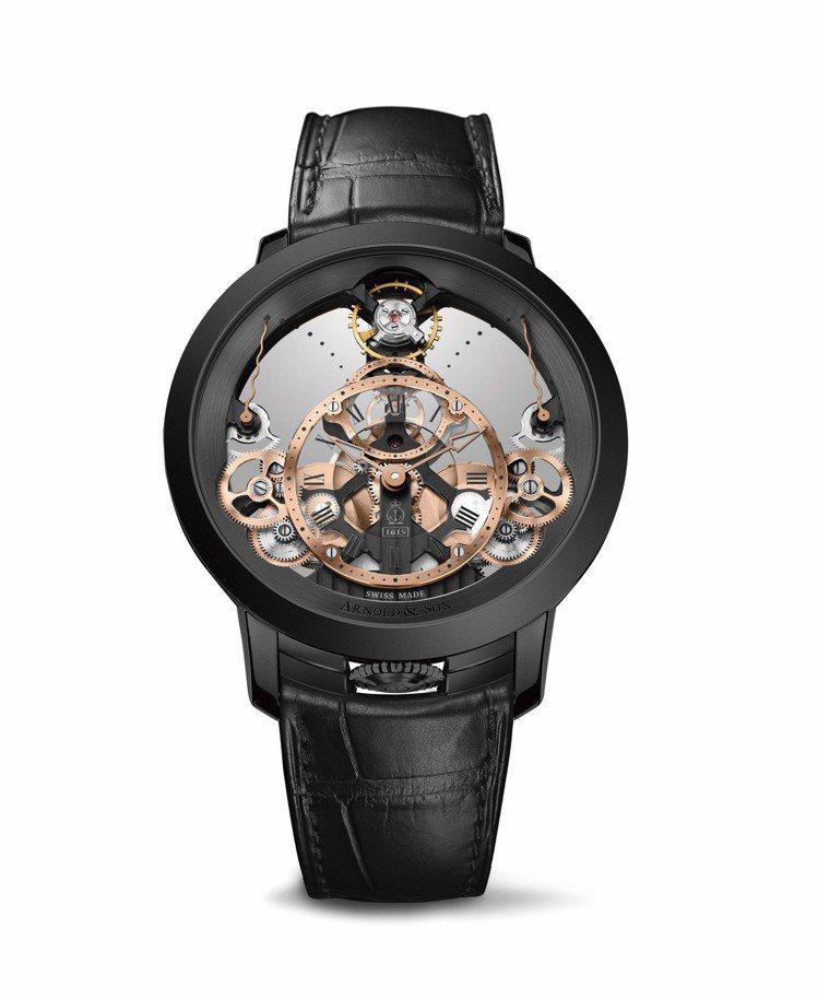 Arnold & Son儀表系列時間金字塔腕表,103萬8,600元。圖/Arn...