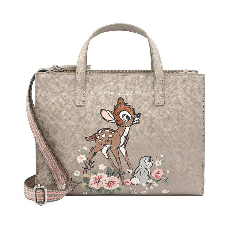 Disney X Cath Kidston小鹿斑比系列Bambi好朋友側背小包,...