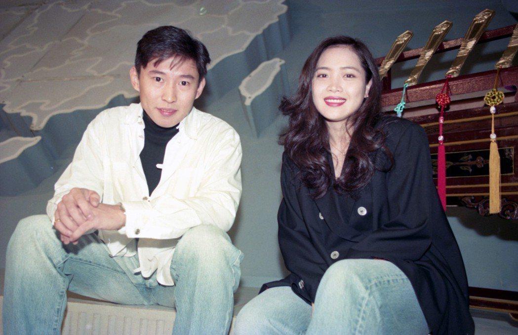 林秀玲(右)與鈕承澤(左)過去曾以情侶之姿上節目。 圖/聯合報系資料照