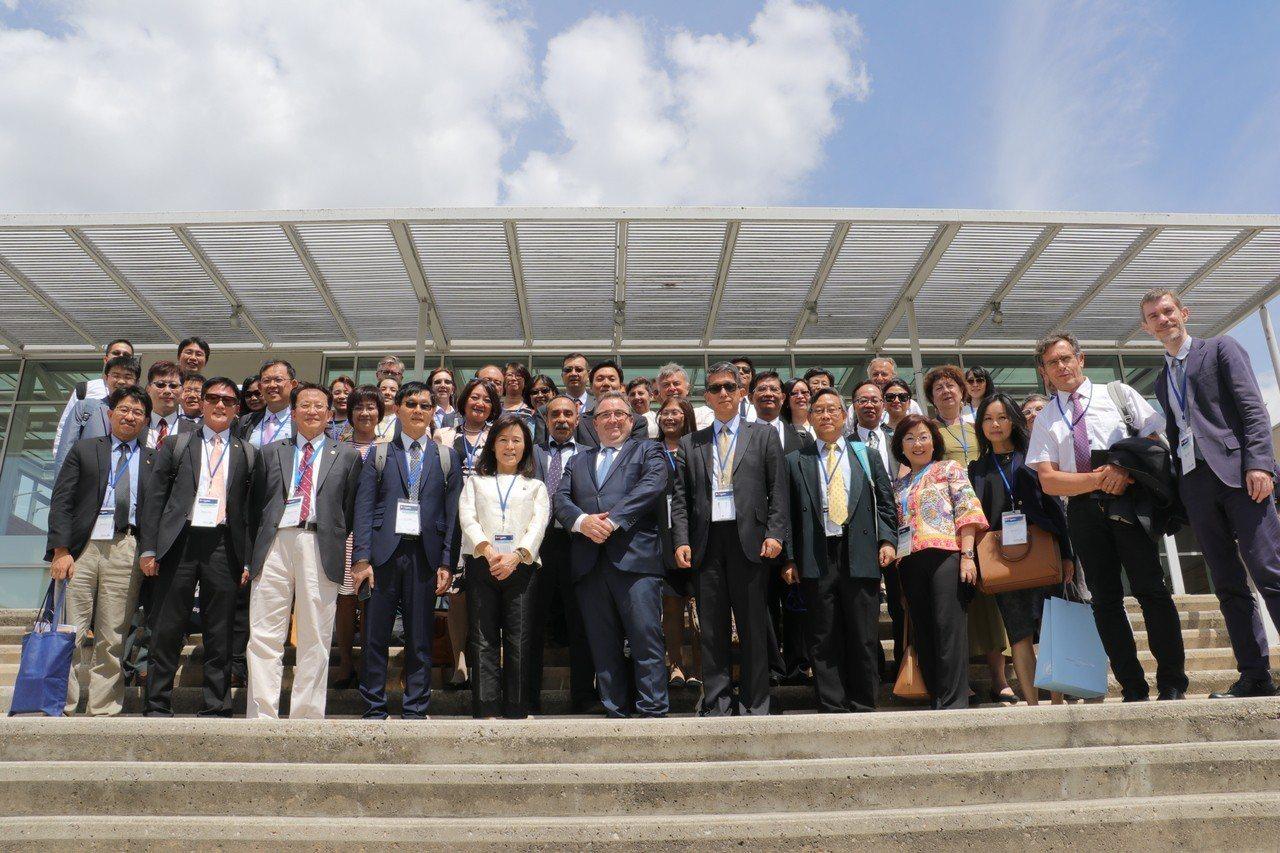 今年7月教育部及多位大學校長出席「第二屆臺灣-法國高等教育論壇」。圖/高等教育國...