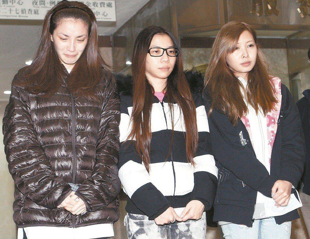 Makiyo(右起)、ㄚ子和湘瑩三人事後出面道歉。圖/報系資料照