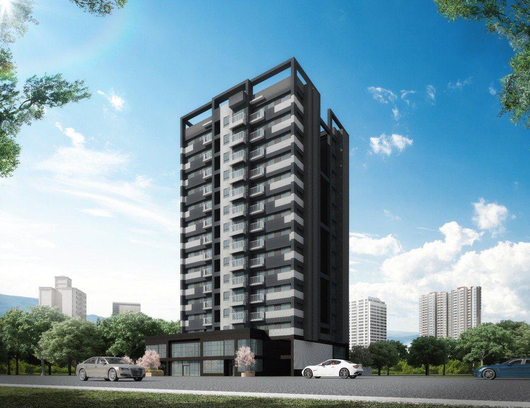 「賦居」25〜38坪.2〜3房.限量登場,地段極佳相當具有指標性。(建築外觀參考...