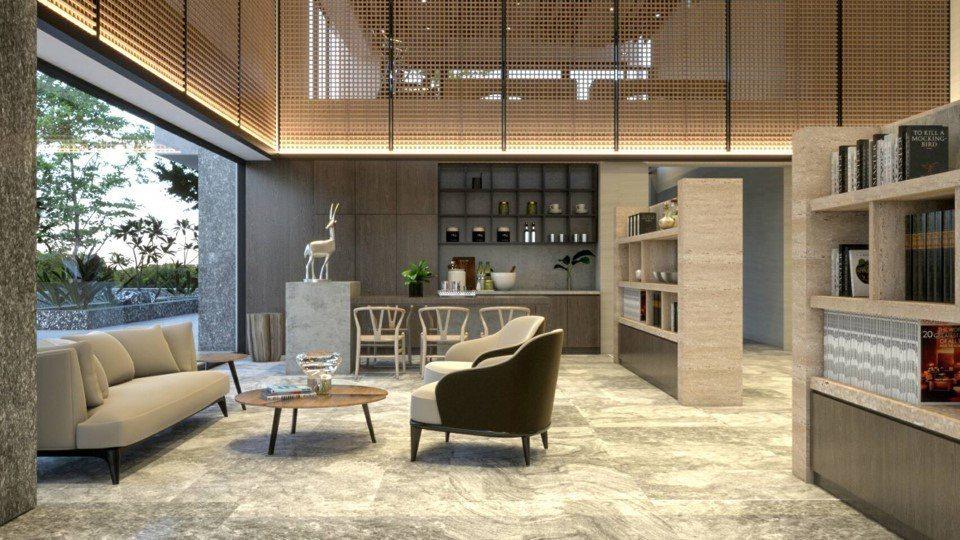 「賦居」精心規劃時尚新穎的交誼廳設計風格。圖/賦居提供