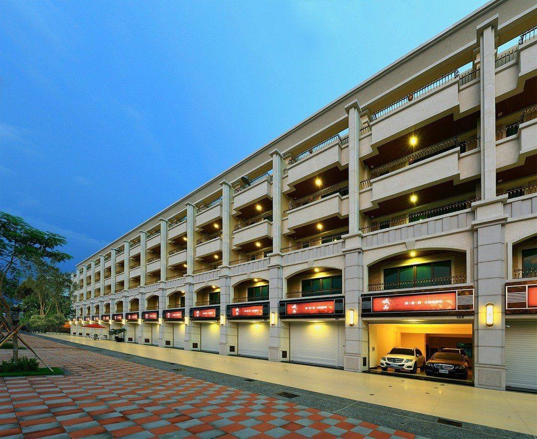 外觀 整體設計,猶如國外精品街廓-實景拍攝。圖片提供/城品建築開發