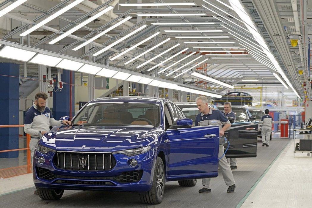 義大利杜林Mirafiori工廠,目前僅生產Maserati Levante。 ...