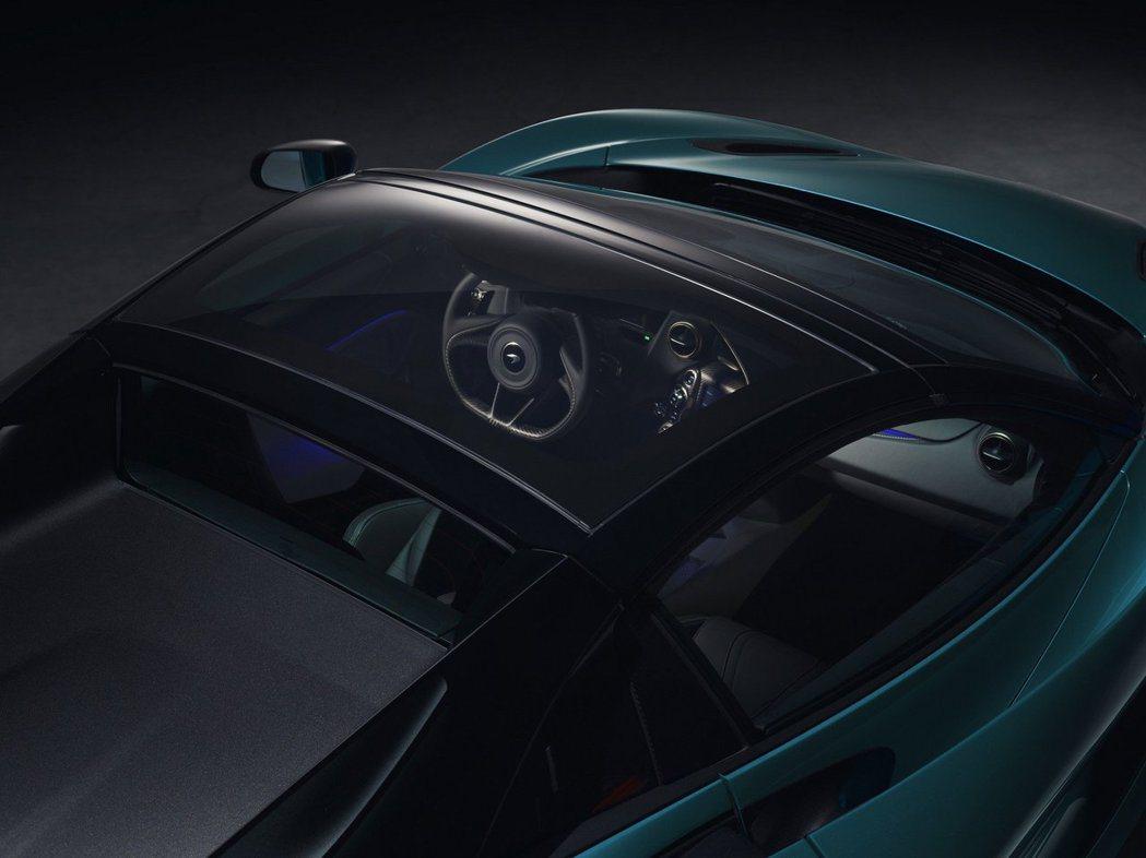 可變色的全景玻璃車頂,必要時可以提升關篷時車室的透光度。 摘自McLaren