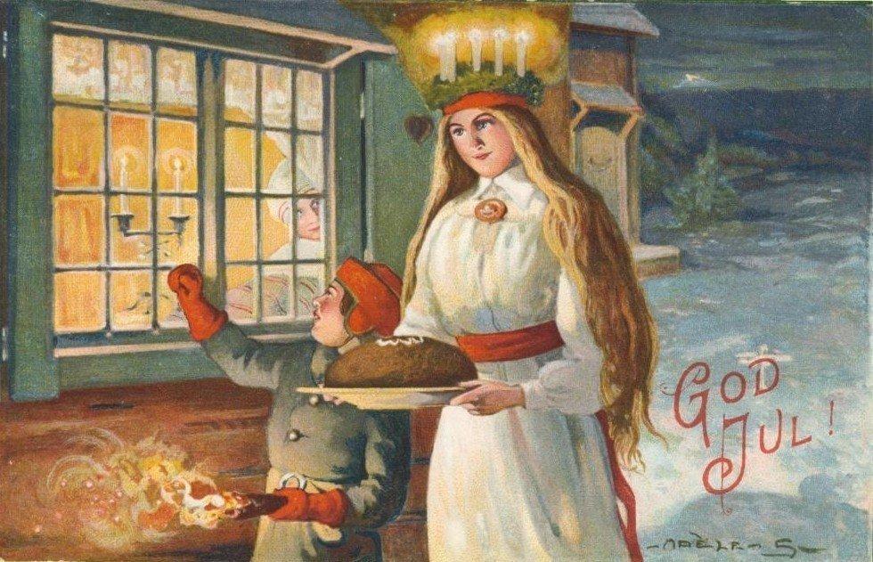 12月13日的露西亞節(Luciadagen),「聖女」露西亞給被黑暗籠罩的瑞典...