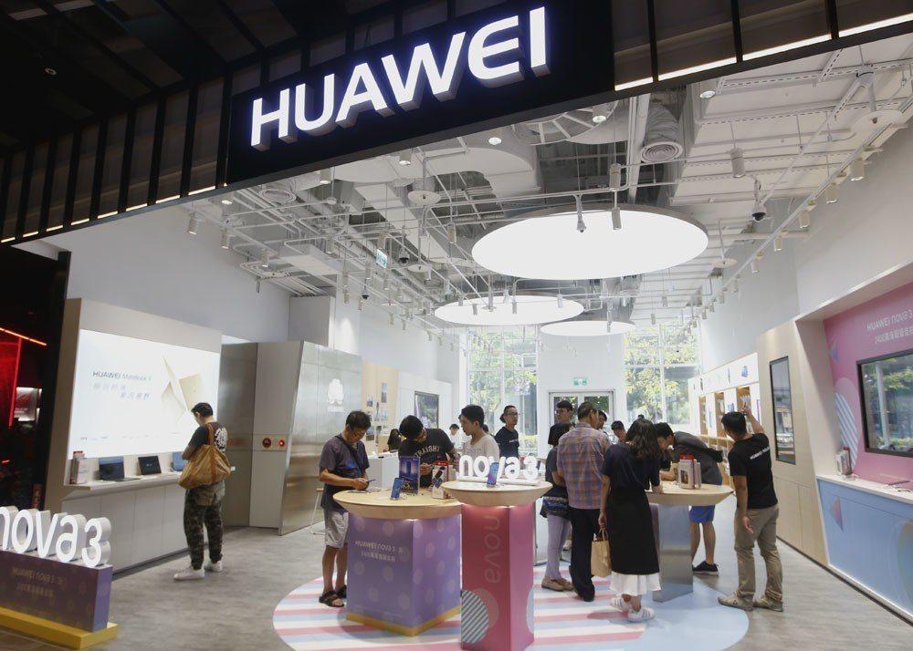 華為是中國研發實力最強的電子企業,在5G開發上也居於前列。 攝影/郭晉瑋