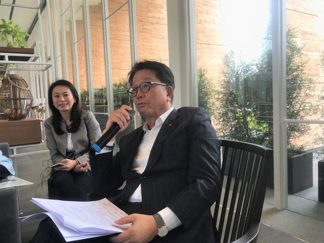 傳真機構董事長王明成 記者游智文/攝影