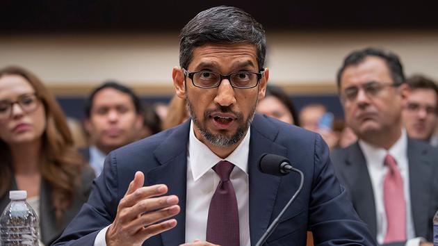 谷歌(Google)執行長皮采11日出席美國國會眾議院司法委員會聽證。美聯社