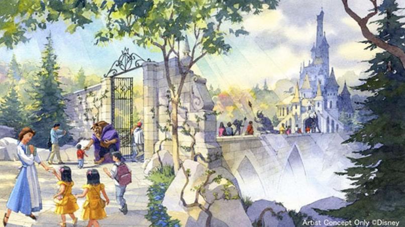 东京迪士尼「美女与野兽」新园区曝光超逼真「贝儿」够惊人!