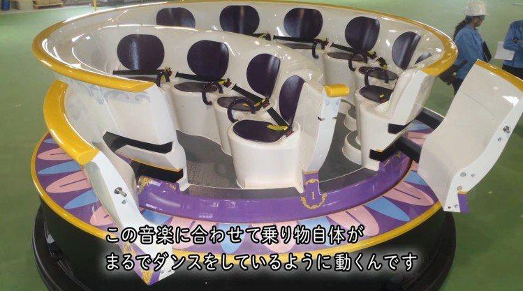 全新園區「美女與野獸」的乘坐型遊樂設施。圖/翻攝自東京迪士尼官方宣傳影片