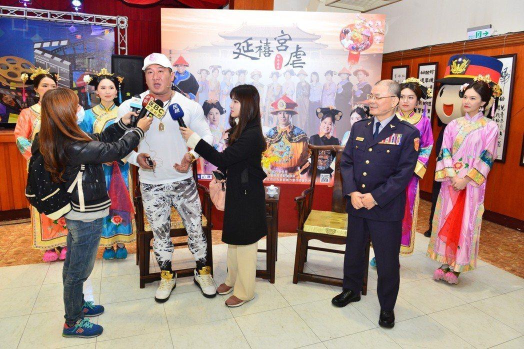 館長陳之漢在記者會後接受採訪。記者袁志豪/翻攝